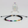 7 Colors Bracelet Natural Crystal Yoga Seven Chakras Healing Balance Bracelet For Women Reiki Prayer Stones 3mm Thin