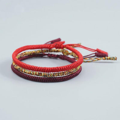 3 Pieces Multi Color Tibetan Buddhist Good Lucky Charm Tibetan Bracelets