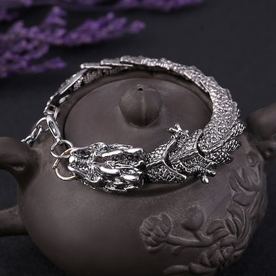 Unique Gift for Lover Dragon Charms Bracelets & Bang Punk Stainless Steel Bracelets