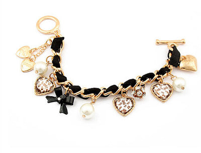 Heart Leopard One Direction Charm Bracelet