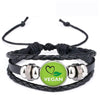 Vegan diet Leather Bracelet