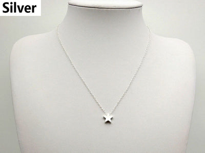 Star Choker Necklaces Jewelry Gold Silver Color Bohemian Pendant Chain Necklace