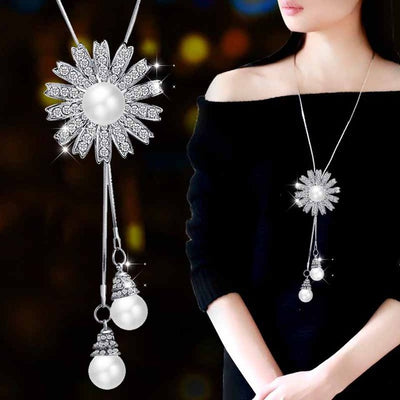 Collier Femme Fashion Women Crystal Snowflake Necklace