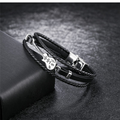 Guitar Leather Bracelet