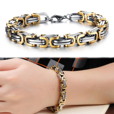 Geometry Spliced Stainless Steel Hand Chain Personality Bracelet