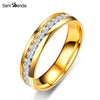 316L Stainless Steel Ring Titanium Steel Engagement Wedding Rings