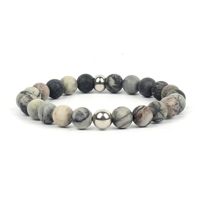 Natural Stone Mala Beads Yoga Meditation Fashion Chakras Bracelet