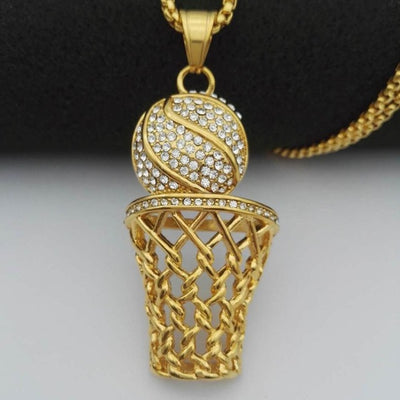 Gold Stainless Steel Sports Necklace
