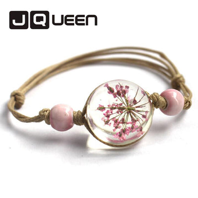 Romantic Dry Flowers Bracelet