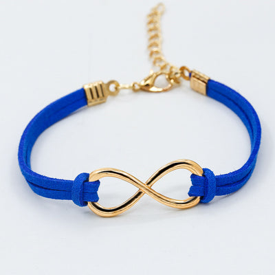 Simple Colorful 8 Shape Velvet Bracelets Women Engagement Gifts