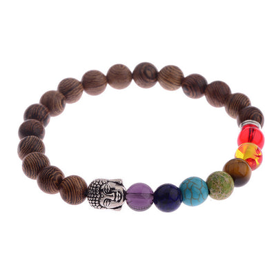 Black Ethinc Meditation White Bracelet