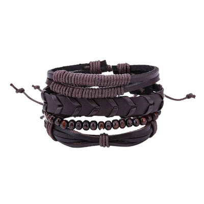 4PCS/Set Leather Bracelets