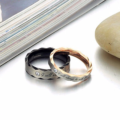 "Romantic Lover ""I always with you"" Ring"