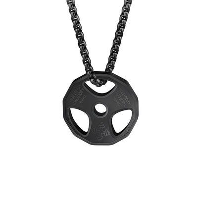 Titanium Stainless Steel Fitness Gym Necklace