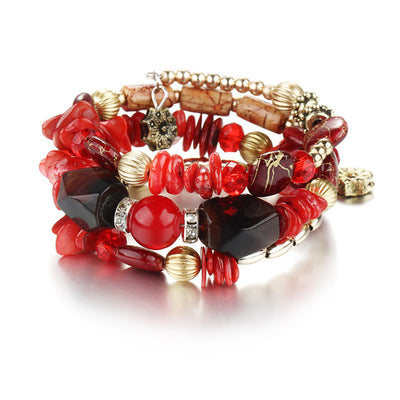 Ethnic Tibet Imitation Natural Stone Bracelets