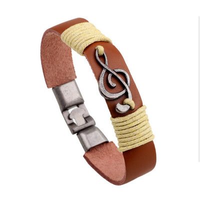Classic Magnet Leather Bracelet