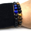 Natural Stone Love Bead Bracelet Tiger Eye Buddha Lava Beads Charm Chain Bead Bracelets