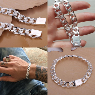 925 SOLID SILVER PLATED BRACELET