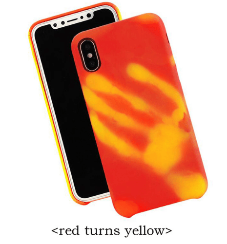brand new 868d4 b5aca Luxury Thermal Sensor Color Changing Phone Case