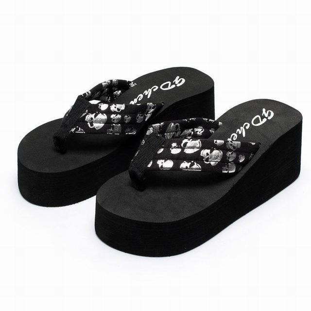 Fashionable Skull Sandals Wedge Slippers - Infinity Deals Store