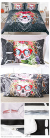 Sugar Skull with Glasses Bedding Set - Infinity Deals Store