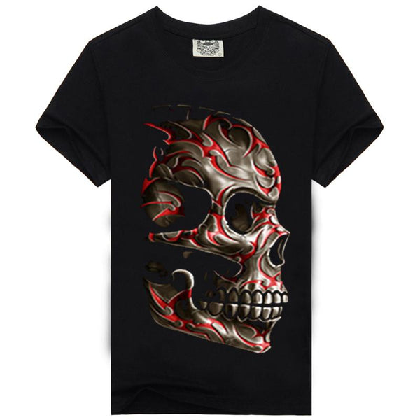 3D Glow in the Dark Skull Luminous T-shirt - Infinity Deals Store