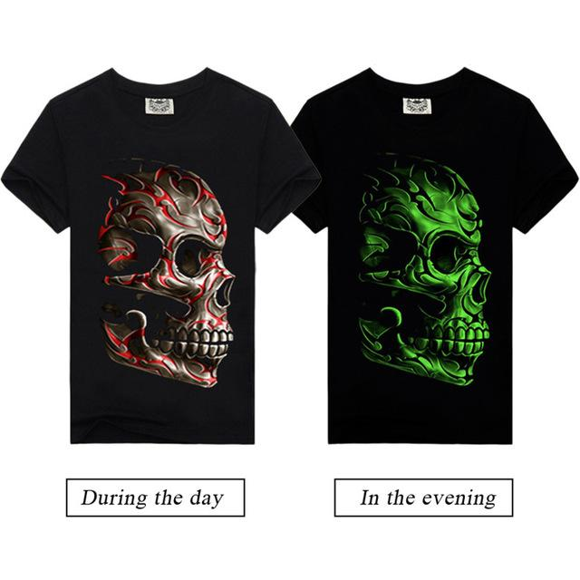 3d Glow In The Dark Skull Luminous T Shirt Infinity Deals Store