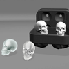 Skull Popsicle Mold Pudding Soap Ice Cubes - Infinity Deals Store