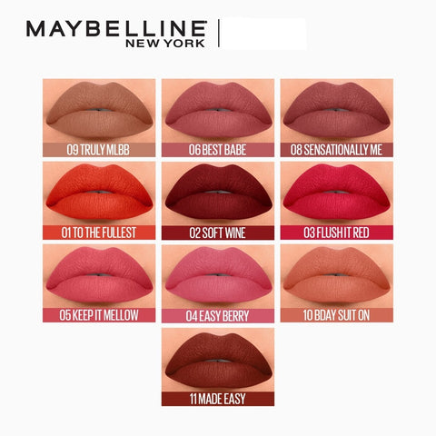 Maybelline Color Sensational Liquid Matte LIP & CHEEK TINT Swatch