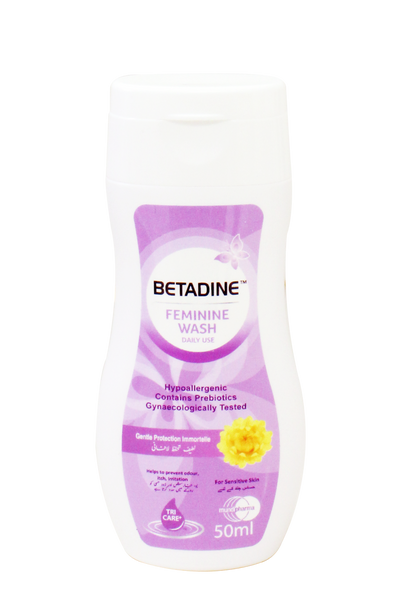 BETADINE™ DAILY FEMININE WASH LIQUID GENTLE PROTECTION 50ML