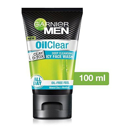 GarnierMen Oil Clear Face Wash 100ml-skin-GARNIER-digimall.pk