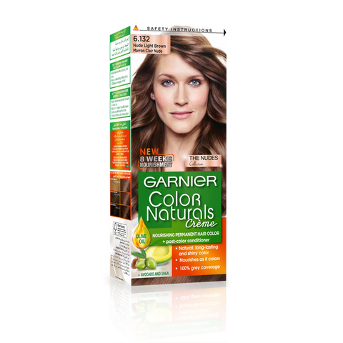 Color Naturals 6.132 Nude Light Brown-Color Naturals-GARNIER-digimall.pk