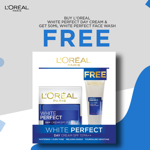 Buy 1 White Perfect Day Cream and Get 50ml White Perfect Face Wash for FREE*