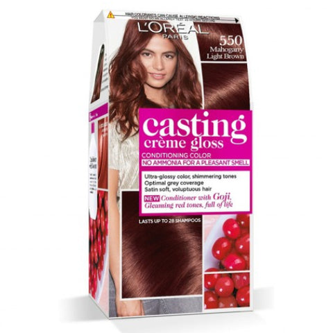 Casting CrãˆMe Gloss 550 Mahogany Light Brown