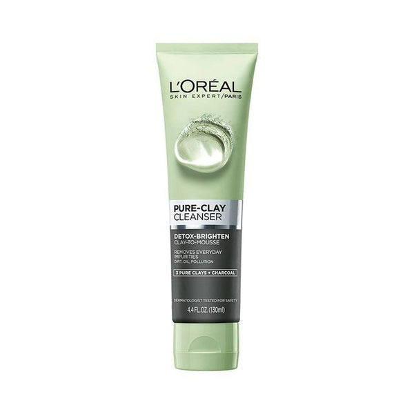 Clay Detoxifies Charcoal Face Wash 150Ml Black-Clay-Loreal Paris-BLACK-digimall.pk