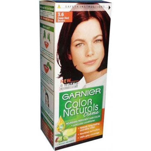 COLOR NATURALS PAK 3.6 DEEP RED BROWN-Color Naturals-GARNIER-red brown-digimall.pk