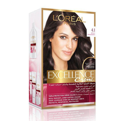Excellence Creme 4.1 Profound Brown-Hair Dye-Loreal Paris-BROWN-digimall.pk