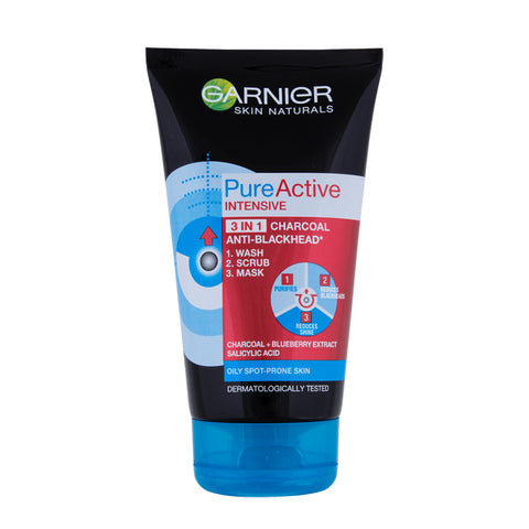 Garnier Men Pure Active Charcoal 3-in-1 100ml-skin-GARNIER-digimall.pk