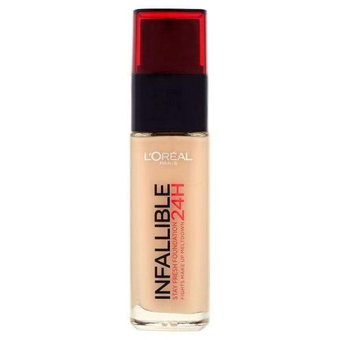 Infallible-Liquid-Foundation-24H - Swatch-LOMO-FACE-LOREAL-MAKEUP-rose beige-digimall.pk