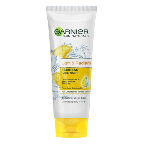Skin Naturals Light & Radiant Fairness Face Wash 100 ml-skin-GARNIER-digimall.pk