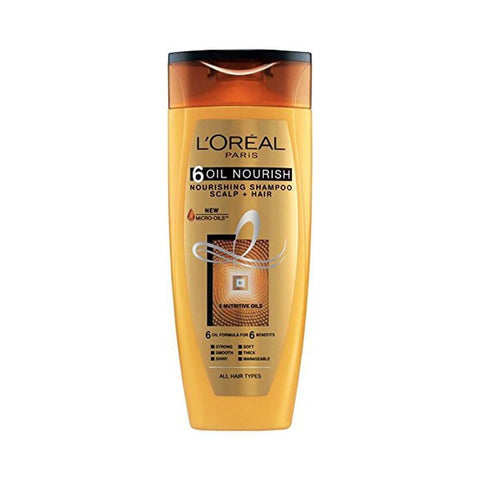 L'Oreal Paris 6 Oil Nourish Shampoo 360Ml (Pk)-LPARIS-Loreal Paris-NOUR SHAMPOO-digimall.pk