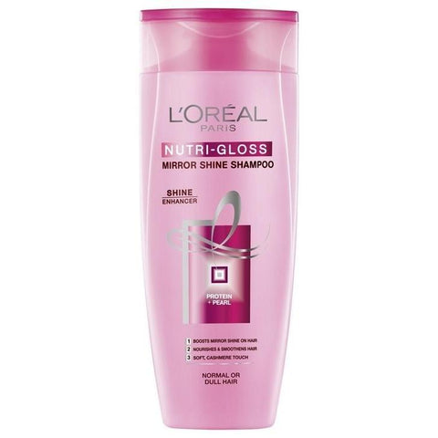 L'Oreal Paris Nutri Gloss Shampoo 175Ml (Pk)-LPARIS-Loreal Paris-NUTRI GLOSS-digimall.pk