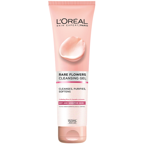 Rare Flowers Cleansing Gel Dry&Sen 150Ml-DE-OTHERS-Loreal Paris-Dry and Sensitive-digimall.pk
