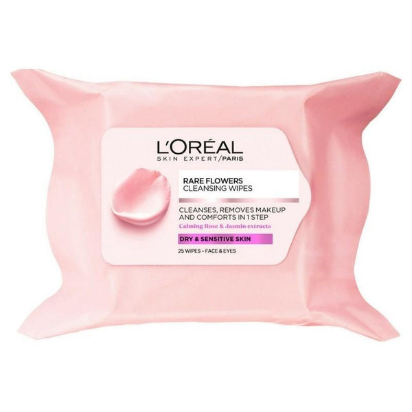 Rare Flowers Cleansing Wipes Dry & Sens-DE-OTHERS-Loreal Paris-Dry and Sensitive-digimall.pk