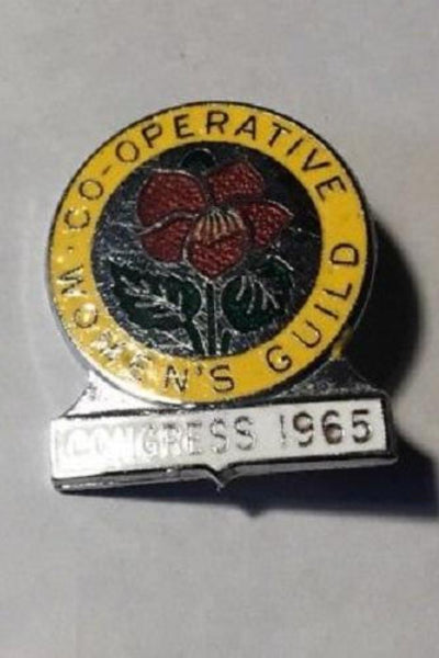 Co-operative Women's Guild Congress 1965 Pin Badge Political Trade Union Assoc - Konig Books