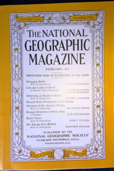 National Geographic February 1937 Changing Berlin