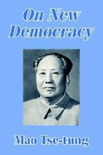 On New Democracy Mao Tse-tung - Konig Books