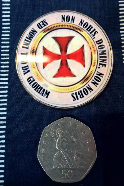 Knights Templar Fridge Magnet NnDnn Gift-Boxed, Templar Malta Cross