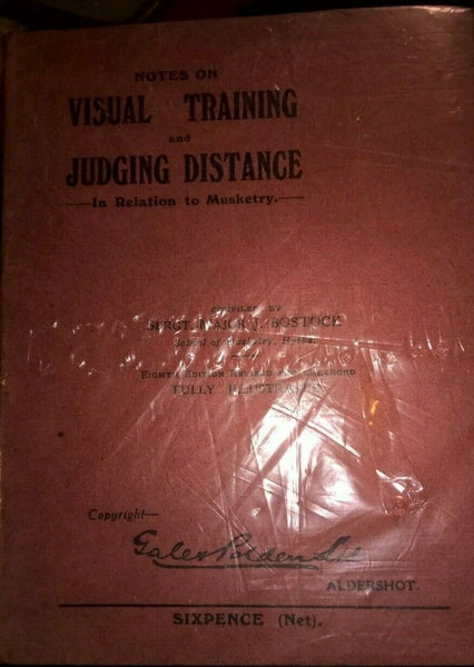 Visual Training and Judging Distance in Relation to Musketry, 1915 - Konig Books
