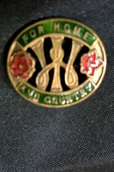 For Home and Country Badge Women's Institute 1940's Vintage Enamel